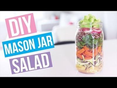 DIY Summer Salad In A Mason Jar! | Nikki Sharp