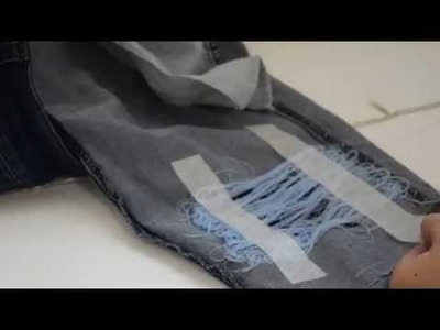 HOW TO: Fake Ripped Distressing Jeans (HACK) DIY for lazy people