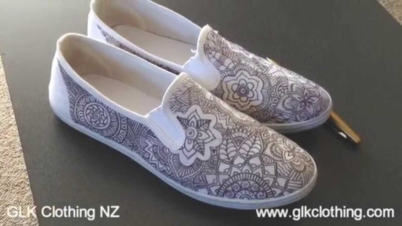 Shoes DIY using only a ball point pen