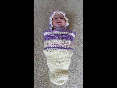 Crochet Easy Baby Cocoon Beginner Version DIY Tutorial
