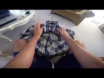 D.I.Y.  Collarless shirt !!