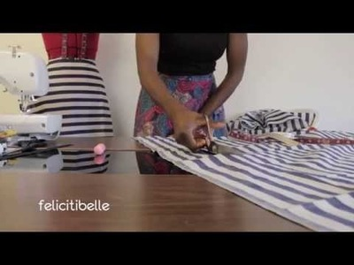DIY Project by Felicitibelle: How to make a Monochrome  Patterned Flared Skirt; Behind the Seam