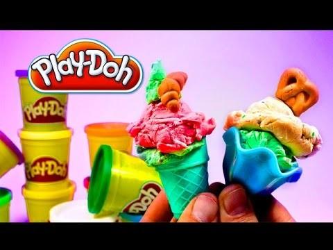 Play Doh Colours Make Popsicles Scoops 'n Treats DIY ★ Preschool DCTC Kid Videos