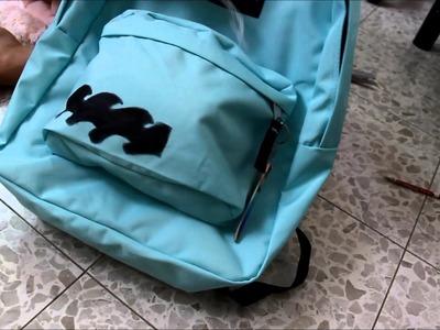 BACK TO SCHOOL-easy DIY -backpack decorating ! ! !☺