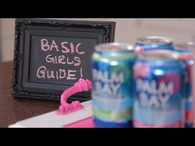 Basic Girls' Guide | Party Guide to Girls' Night In | DIY Drink Tray