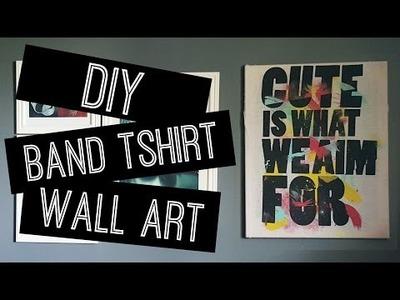 DIY: Band T-shirt Wall Art | ERA