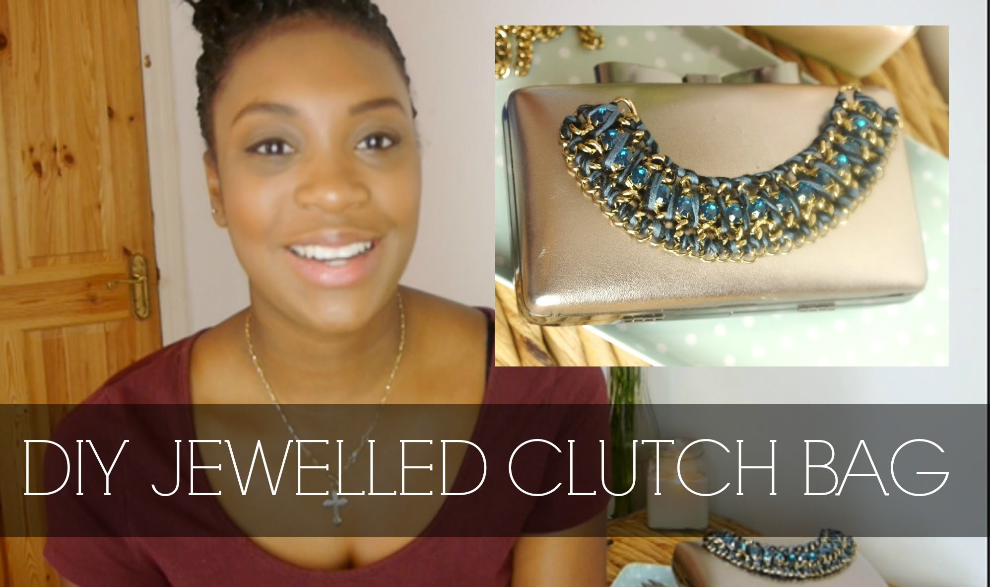 DIY Bejewelled Clutch Bag