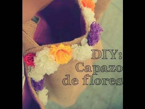 DIY Capazo de flores. DIY Flowered beach basket