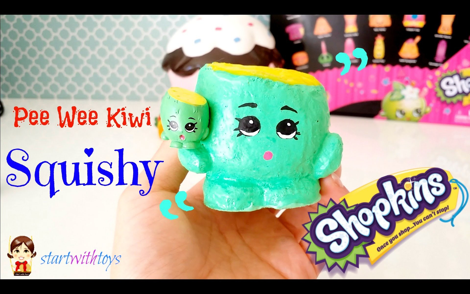 DIY Crafts Shopkins Pee Wee Kiwi Squishy