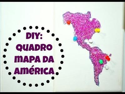 DIY || QUADRO DA AMÉRICA! || ROOM DECOR ♥