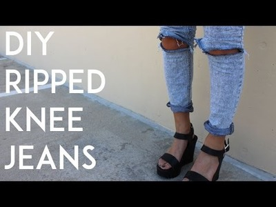 DIY Ripped Jeans | Step by Step How-To