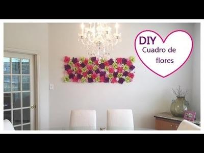DIY, Room Decor, cuadro de flores