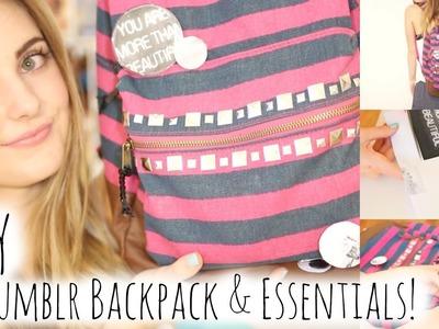 DIY Tumblr Inspired Backpack & Essentials for School! | Aspyn Ovard