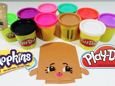 GIANT Play-Doh SHOPKINS MARSHA MELLOW Surprise Egg Decoration - DIY Play-Doh Challenge!
