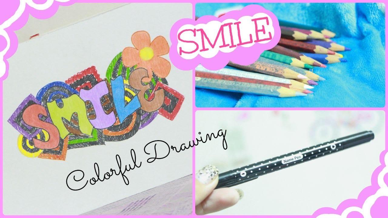 Smile! Colorful Drawing | Simplee DIY
