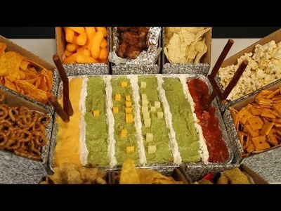 Super Bowl Snack Stadium DIY