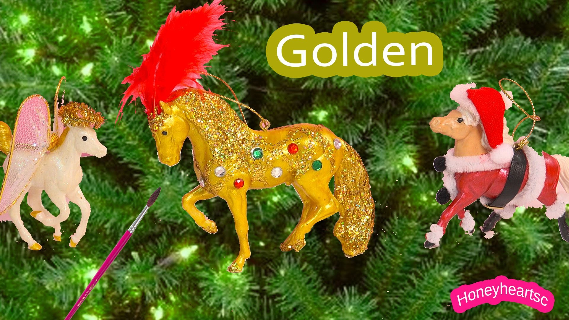 Breyer Holiday Stablemates - Christmas Golden Jewel Stallion Ornament Activity DIY Kit Review Video