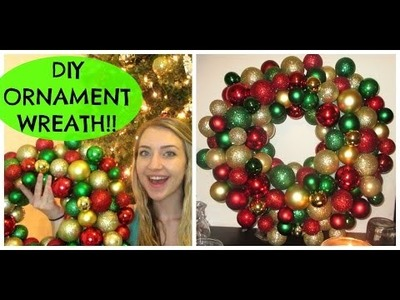 DIY EASY.CHEAP ORNAMENT WREATH! $12 OR LESS