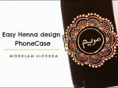 DIY Easy Henna design Phone Case