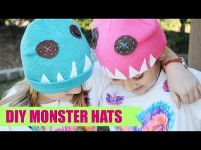 DIY Easy Monster Hats MADE By KIDS!