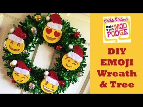 DIY EMOJI Wreath and Tree with Cathie and Steve
