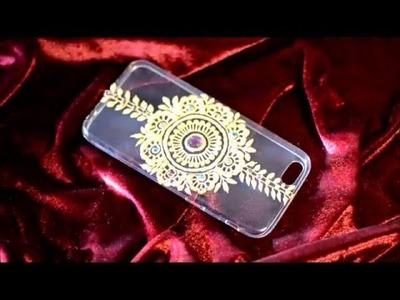 DIY HENNA PHONE CASE TUTORIAL - LAL HATHELI