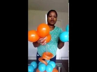 DIY- How to make a Balloon Topiary (ball) Centrepiece.