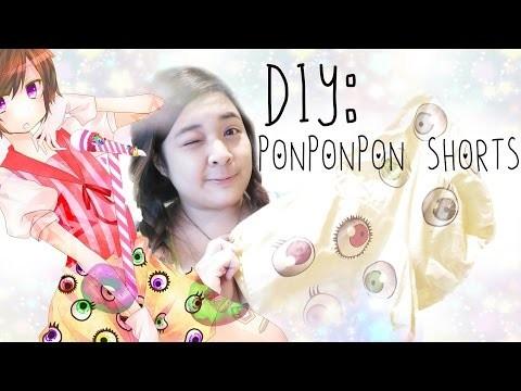 【DIY】How to make PONPONPON Shorts