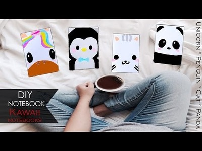 DIY Notebook ≀ Unicorn Penguin Cat Panda Kawaii Notebooks