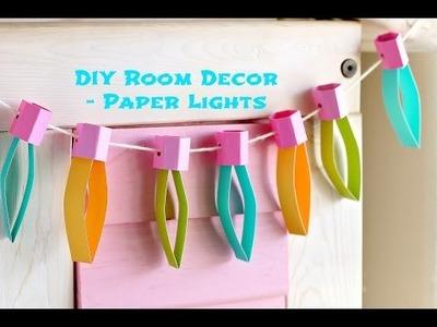DIY Room Decor  - Paper Lights