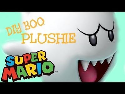 DIY SUPER MARIO BOO PLUSHIE. QUICK & EASY!