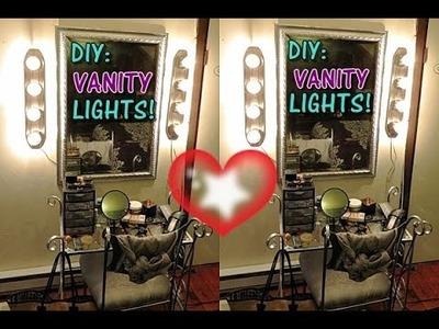 DIY: VANITY LiGHTS(SIMPLE AND EASY)