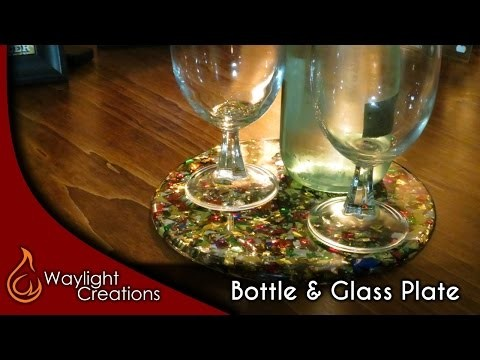 DIY Wine Bottle & Wine Glass Plate - Great for parties