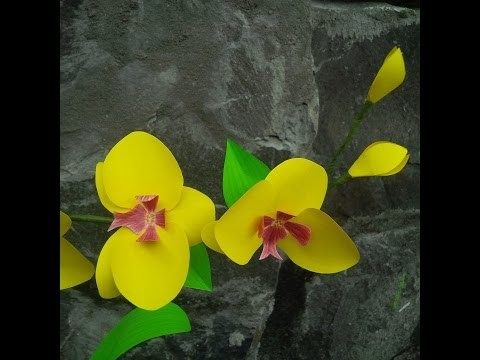 How to make a paper orchid   DIY - tutorial