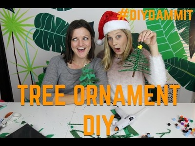 HOW TO MAKE A XMAS TREE ORNAMENT WITH MEG ALLAN COLE -- DIY, DAMMIT!