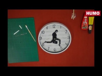 Tutorial: DIY Monthy Python's Silly Walks clock [how to]