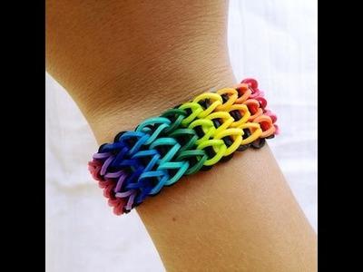 Tutorial Loom Bands Tricolore fatto con Telaio, in Italiano