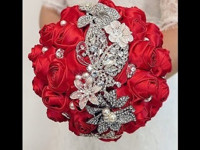 #1 DIY How to make your own wedding bridal brooch bouquet - Short Version