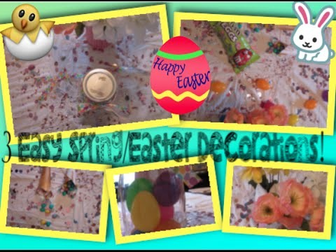 3 Easy DIY's For Easter.Spring Decorations!