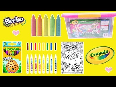 CRAYOLA Creative Art Supply Set with SHOPKINS Crayons, Markers, Chalks, DIY Stickers!