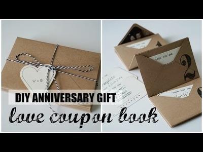 DIY Accordion Envelope Book | Anniversary Love Coupons