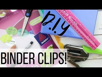 DIY Binder Clips (Sticker Organization) :: PrettyonPaperco
