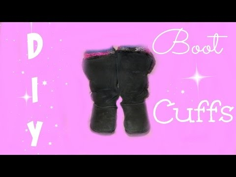 DIY Boot Cuffs - Loom Knitted