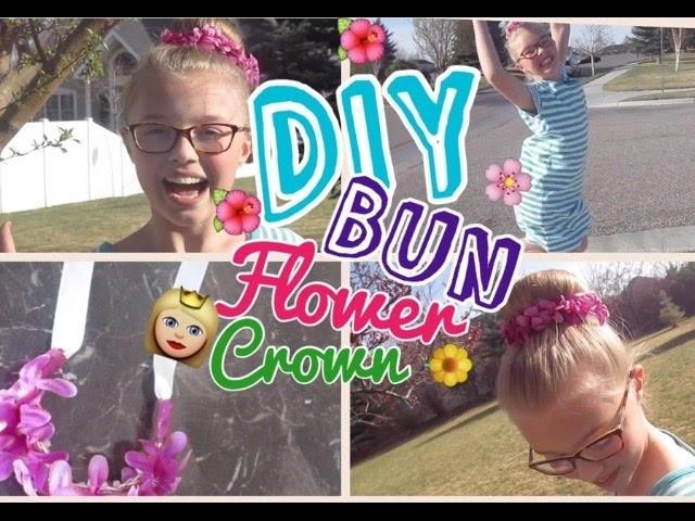 DIY Bun Flower Crown
