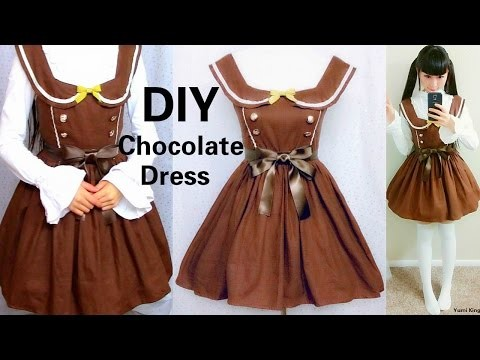 DIY Chocolate Dress with Peter Pan Collar Inspired by Angelic Pretty Melty Ribbon Chocolate