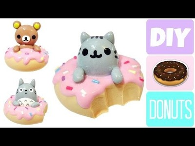 DIY Donut Rilakkuma, Pusheen & Totoro | Polymer Clay & Cold Porcelain