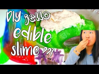 DIY Edible Jello Slime?!! Without Borax or Liquid Starch! | Ashlelayy