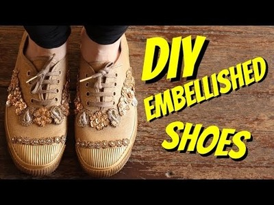 DIY Embellished Shoes!