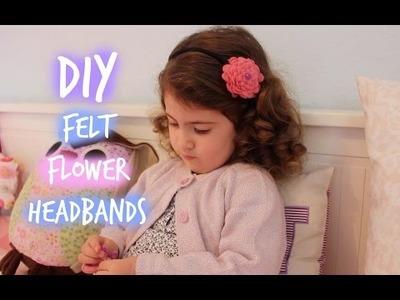 DIY felt flower headbands for little girls