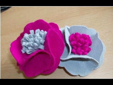 DIY flower - DIY brooch from fabric